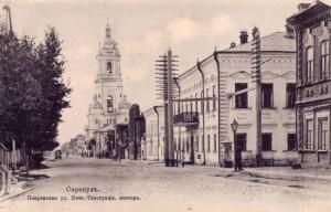 Большая Покровская улица и колокольня Петропавловский церкви
